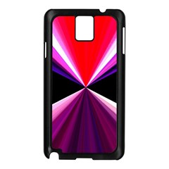 Red And Purple Triangles Abstract Pattern Background Samsung Galaxy Note 3 N9005 Case (black)