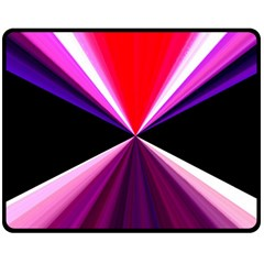 Red And Purple Triangles Abstract Pattern Background Double Sided Fleece Blanket (Medium)