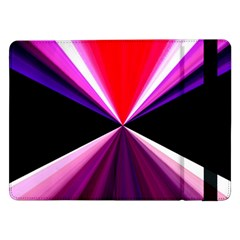 Red And Purple Triangles Abstract Pattern Background Samsung Galaxy Tab Pro 12 2  Flip Case
