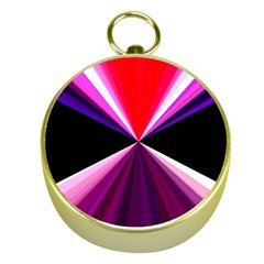 Red And Purple Triangles Abstract Pattern Background Gold Compasses