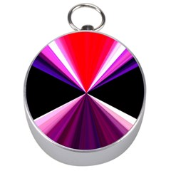 Red And Purple Triangles Abstract Pattern Background Silver Compasses