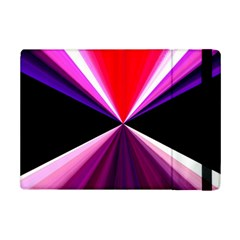 Red And Purple Triangles Abstract Pattern Background Ipad Mini 2 Flip Cases