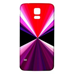 Red And Purple Triangles Abstract Pattern Background Samsung Galaxy S5 Back Case (white)