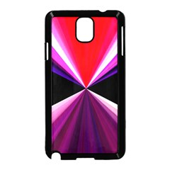 Red And Purple Triangles Abstract Pattern Background Samsung Galaxy Note 3 Neo Hardshell Case (black)