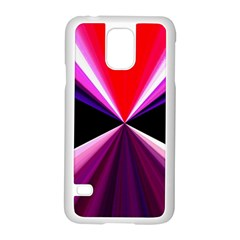 Red And Purple Triangles Abstract Pattern Background Samsung Galaxy S5 Case (White)