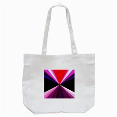 Red And Purple Triangles Abstract Pattern Background Tote Bag (White)