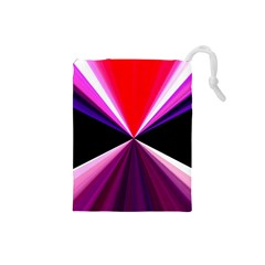 Red And Purple Triangles Abstract Pattern Background Drawstring Pouches (Small)