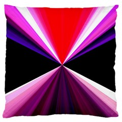 Red And Purple Triangles Abstract Pattern Background Large Flano Cushion Case (two Sides)