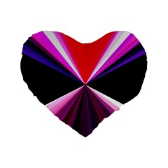 Red And Purple Triangles Abstract Pattern Background Standard 16  Premium Flano Heart Shape Cushions