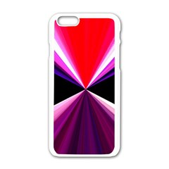 Red And Purple Triangles Abstract Pattern Background Apple Iphone 6/6s White Enamel Case