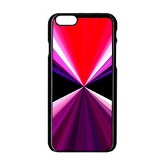 Red And Purple Triangles Abstract Pattern Background Apple Iphone 6/6s Black Enamel Case