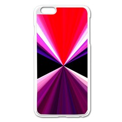 Red And Purple Triangles Abstract Pattern Background Apple Iphone 6 Plus/6s Plus Enamel White Case