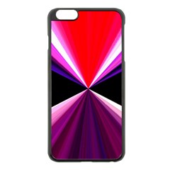 Red And Purple Triangles Abstract Pattern Background Apple Iphone 6 Plus/6s Plus Black Enamel Case