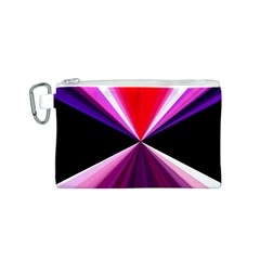 Red And Purple Triangles Abstract Pattern Background Canvas Cosmetic Bag (s)