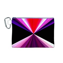 Red And Purple Triangles Abstract Pattern Background Canvas Cosmetic Bag (M)