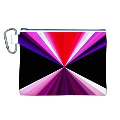 Red And Purple Triangles Abstract Pattern Background Canvas Cosmetic Bag (L)