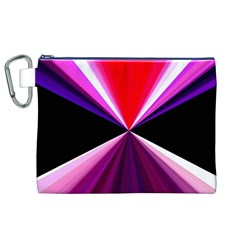 Red And Purple Triangles Abstract Pattern Background Canvas Cosmetic Bag (xl)
