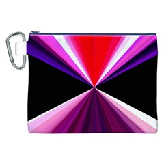 Red And Purple Triangles Abstract Pattern Background Canvas Cosmetic Bag (xxl)