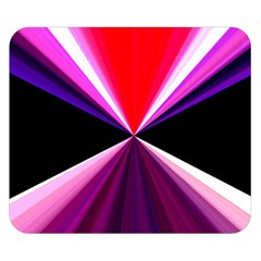 Red And Purple Triangles Abstract Pattern Background Double Sided Flano Blanket (small)