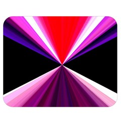 Red And Purple Triangles Abstract Pattern Background Double Sided Flano Blanket (Medium)