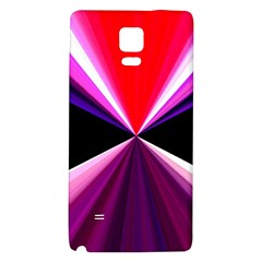 Red And Purple Triangles Abstract Pattern Background Galaxy Note 4 Back Case