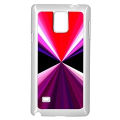 Red And Purple Triangles Abstract Pattern Background Samsung Galaxy Note 4 Case (white)