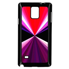 Red And Purple Triangles Abstract Pattern Background Samsung Galaxy Note 4 Case (black)