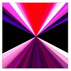 Red And Purple Triangles Abstract Pattern Background Large Satin Scarf (Square)