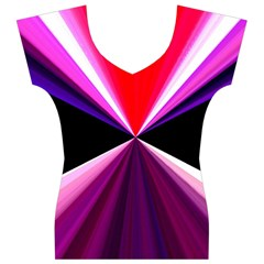 Red And Purple Triangles Abstract Pattern Background Women s V-Neck Cap Sleeve Top