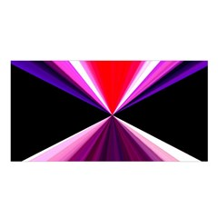 Red And Purple Triangles Abstract Pattern Background Satin Shawl