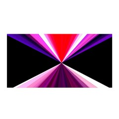 Red And Purple Triangles Abstract Pattern Background Satin Wrap