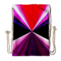Red And Purple Triangles Abstract Pattern Background Drawstring Bag (Large)