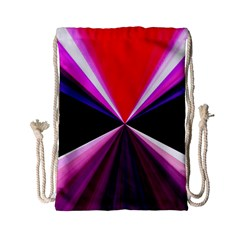 Red And Purple Triangles Abstract Pattern Background Drawstring Bag (small)