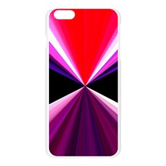 Red And Purple Triangles Abstract Pattern Background Apple Seamless iPhone 6 Plus/6S Plus Case (Transparent)