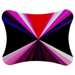 Red And Purple Triangles Abstract Pattern Background Jigsaw Puzzle Photo Stand (bow)