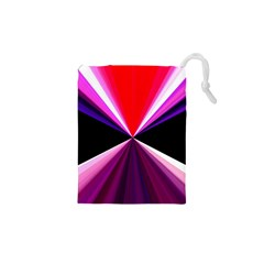 Red And Purple Triangles Abstract Pattern Background Drawstring Pouches (xs)