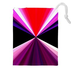 Red And Purple Triangles Abstract Pattern Background Drawstring Pouches (XXL)