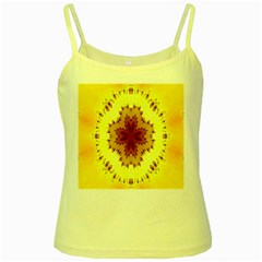 Yellow Digital Kaleidoskope Computer Graphic Yellow Spaghetti Tank