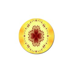 Yellow Digital Kaleidoskope Computer Graphic Golf Ball Marker (4 Pack)