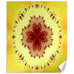 Yellow Digital Kaleidoskope Computer Graphic Canvas 20  X 24