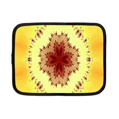 Yellow Digital Kaleidoskope Computer Graphic Netbook Case (Small)