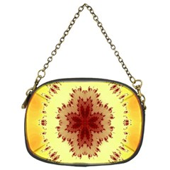 Yellow Digital Kaleidoskope Computer Graphic Chain Purses (One Side)