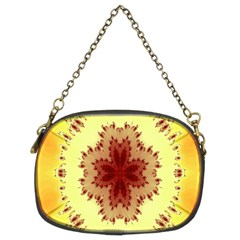 Yellow Digital Kaleidoskope Computer Graphic Chain Purses (Two Sides)
