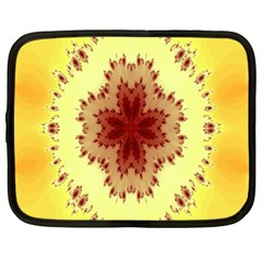 Yellow Digital Kaleidoskope Computer Graphic Netbook Case (xl)