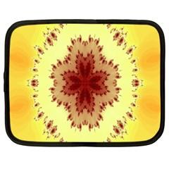Yellow Digital Kaleidoskope Computer Graphic Netbook Case (XXL)