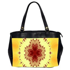 Yellow Digital Kaleidoskope Computer Graphic Office Handbags (2 Sides)
