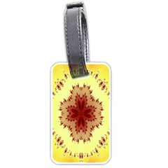 Yellow Digital Kaleidoskope Computer Graphic Luggage Tags (One Side)