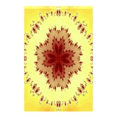 Yellow Digital Kaleidoskope Computer Graphic Shower Curtain 48  x 72  (Small)