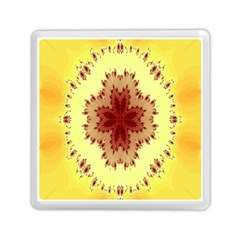 Yellow Digital Kaleidoskope Computer Graphic Memory Card Reader (Square)