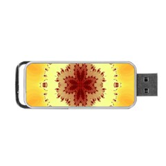 Yellow Digital Kaleidoskope Computer Graphic Portable USB Flash (Two Sides)